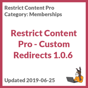 Restrict Content Pro - Custom Redirects 1.0.6