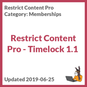 Restrict Content Pro - Timelock 1.1