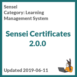 Sensei Certificates 2.0.0