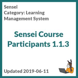 Sensei Course Participants 1.1.3