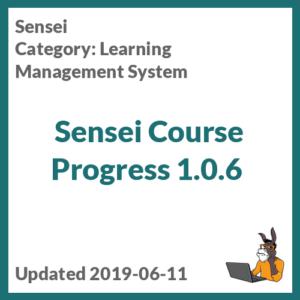 Sensei Course Progress 1.0.6