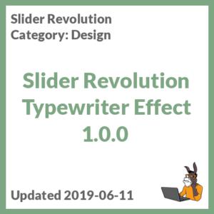 Slider Revolution Typewriter Effect 1.0.0