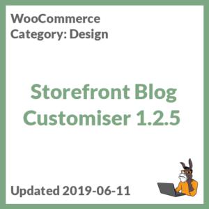 Storefront Blog Customiser 1.2.5