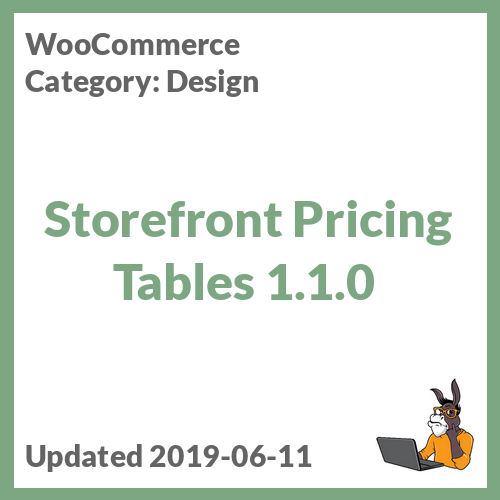 Storefront Pricing Tables 1.1.0