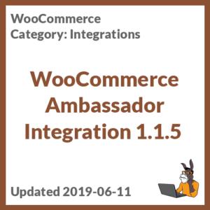 WooCommerce Ambassador Integration 1.1.5