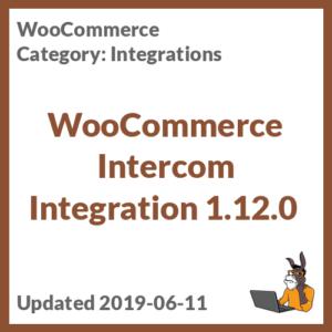 WooCommerce Intercom Integration 1.12.0
