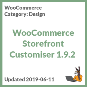 WooCommerce Storefront Customiser 1.9.2