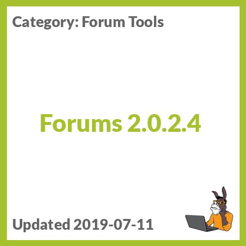 Forums 2.0.2.4
