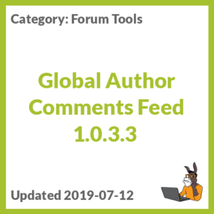 Global Author Comments Feed 1.0.3.3