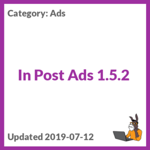 In Post Ads 1.5.2