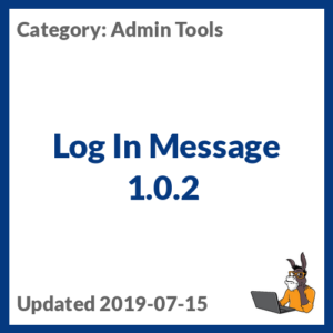 Log In Message 1.0.2