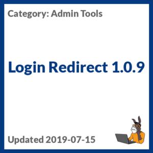 Login Redirect 1.0.9