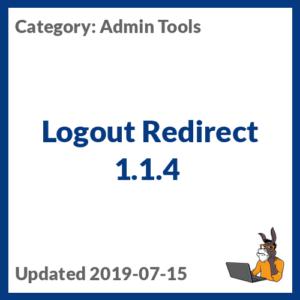 Logout Redirect 1.1.4