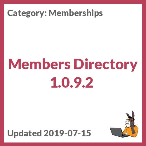 Members Directory 1.0.9.2