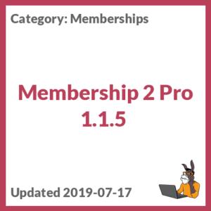 Membership 2 Pro 1.1.5