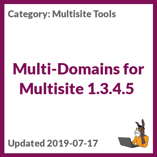 Multi-Domains for Multisite 1.3.4.5