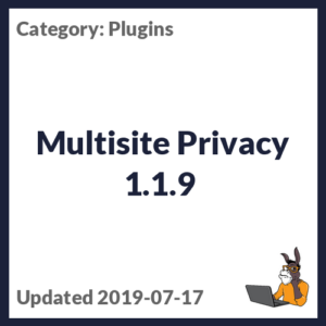 Multisite Privacy 1.1.9