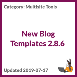 New Blog Templates 2.8.6