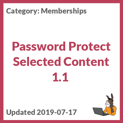 Password Protect Selected Content 1.1