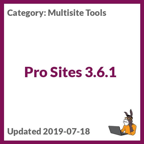 Pro Sites 3.6.1