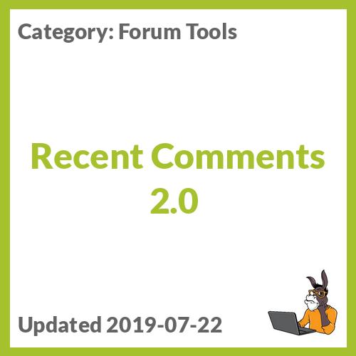 Recent Comments 2.0