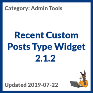 Recent Custom Posts Type Widget 2.1.2
