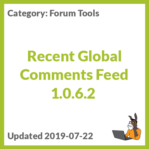 Recent Global Comments Feed 1.0.6.2