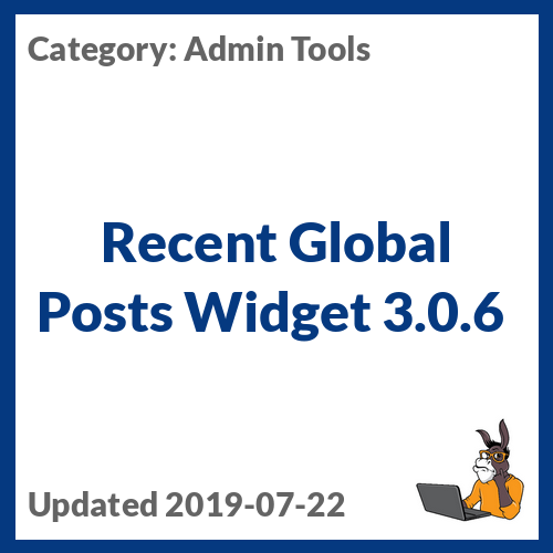 Recent Global Posts Widget 3.0.6