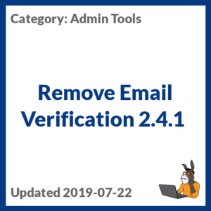 Remove Email Verification 2.4.1