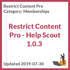 Restrict Content Pro - Help Scout 1.0.3