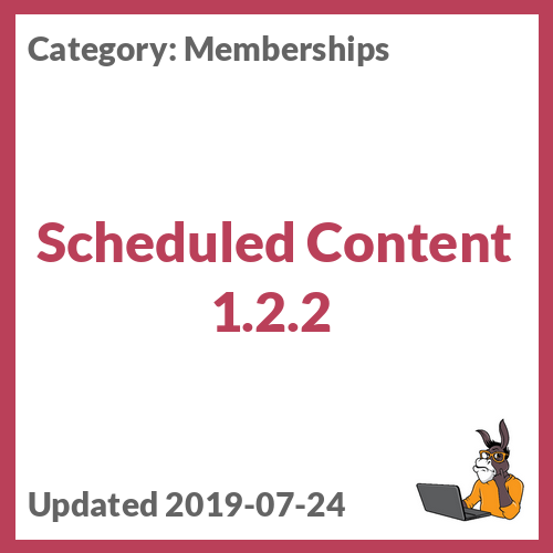 Scheduled Content 1.2.2