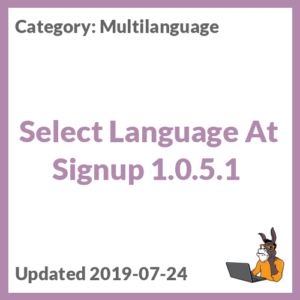 Select Language At Signup 1.0.5.1