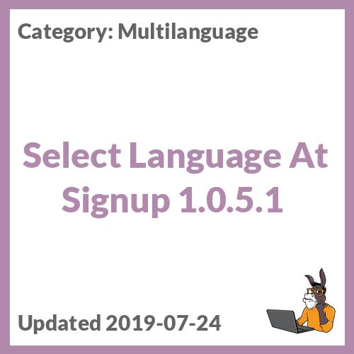 Select Language At Signup 1.0.5.1
