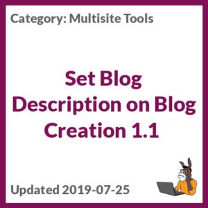 Set Blog Description on Blog Creation 1.1