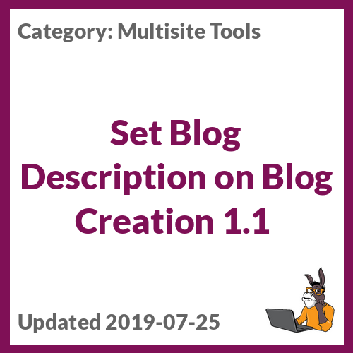 Set Blog Description on Blog Creation 1.1
