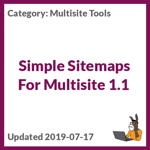Simple Sitemaps For Multisite 1.1