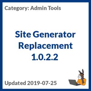 Site Generator Replacement 1.0.2.2