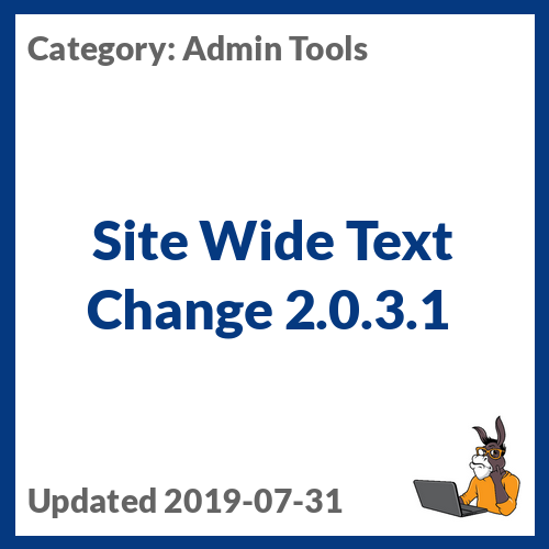Site Wide Text Change 2.0.3.1