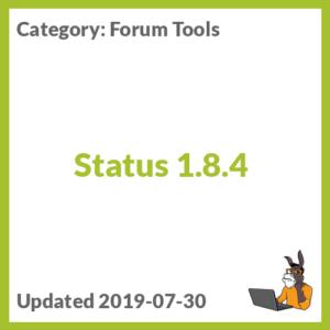 Status 1.8.4