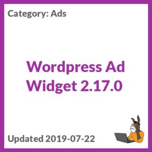 Wordpress Ad Widget 2.17.0
