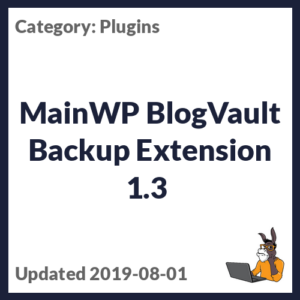 MainWP BlogVault Backup Extension 1.3