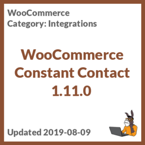 WooCommerce Constant Contact 1.11.0