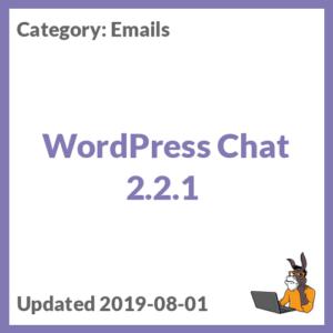 WordPress Chat 2.2.1