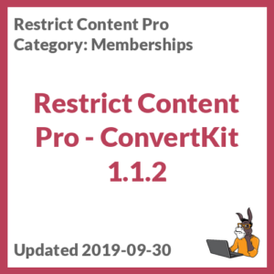 Restrict Content Pro - ConvertKit