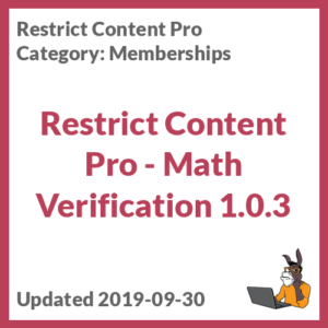 Restrict Content Pro - Math Verification