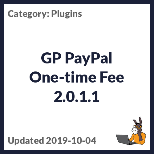 GP PayPal One-time Fee