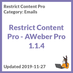 Restrict Content Pro - AWeber Pro