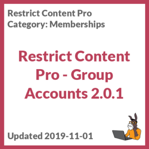 Restrict Content Pro - Group Accounts