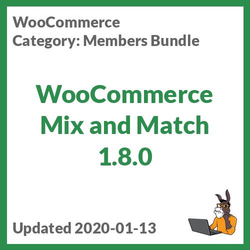 WooCommerce Mix and Match