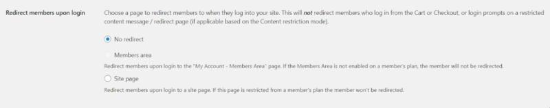 redirection memberships